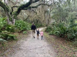 Exploring the trails on Jekyll Island