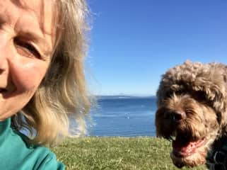 Smiling with Caya in Port Townsend 10/2018