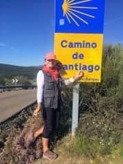 Susanne on the 500 mile Camino de Santiago.Camino