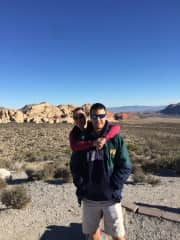 Hiking in Nevada with Kirk