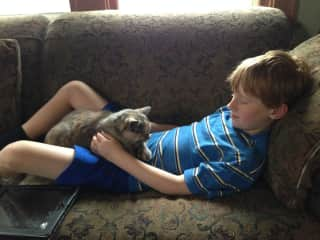 My son also has a strong love for animals