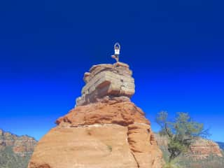 Climbing in Sedona, Arizona