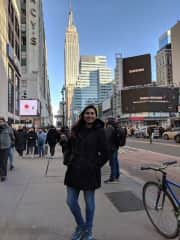 This is me during my birthday trip to New York City!