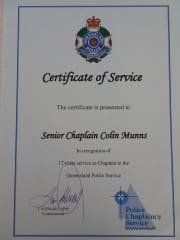 Record of Colin's Police Chaplaincy