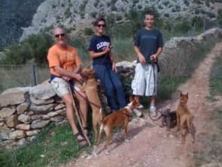 Greg, Emma and Tom with the Furries In Spain