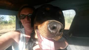 Boss (the Rottweiler) and me