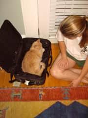 Jane with Mama kitty