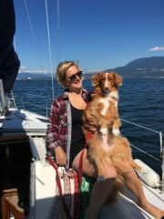 Piper and I. Summer 2018. Piper is a high energy duck toller who I lived with while her family was away.