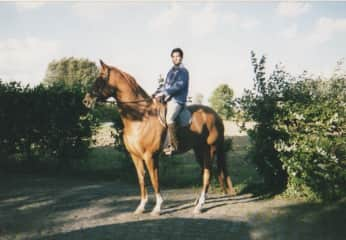 Me in 2005 with my horse Orka