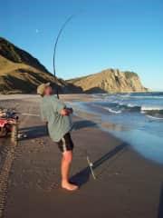 fishing along our beach