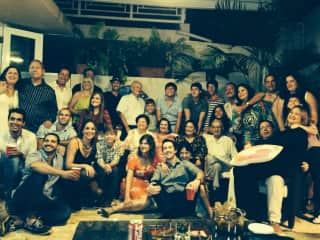 Me and a good chunk of my family at home, Puerto Rico, for New Years