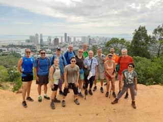 Wayne with my hiking group in Malaysia - third from left at back