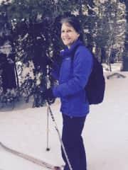 Cross country skiing in Tahoe.
