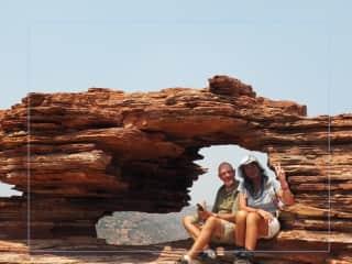 Walking in the Kalbari National park WA