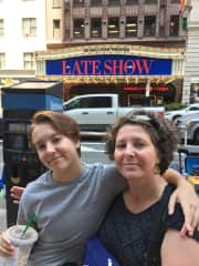 Wandering around NYC with my son
