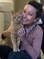 Cindy's beautiful rescue cat