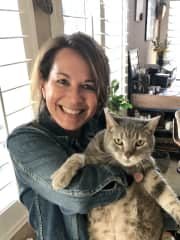 Crystal with a cuddly cat in Temecula CA