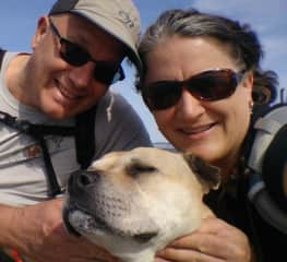 Pam, Paul and the Doggess Athena