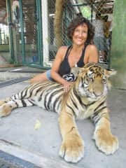 Kate with Bengal Tiger, Thailand