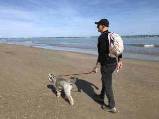Long walks with Max in Italy