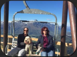 With Dylan and Louie in Queenstown, NZ