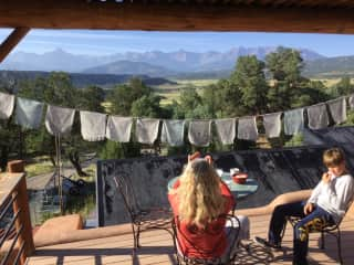 in South-West-Colorado, Ouray, we lived in Earthship-house
