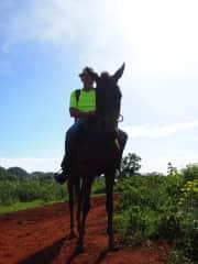 Me horse riding in Cuba
