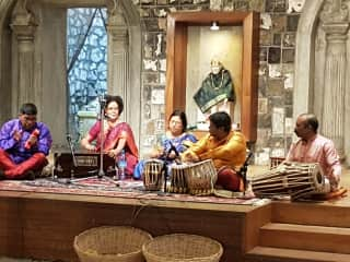 Indian music in the temple