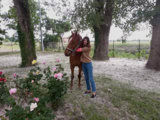 Alessandra with her former horse Gungadin