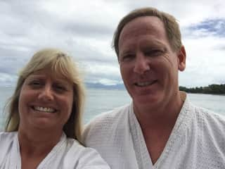 On vacation in Tahiti