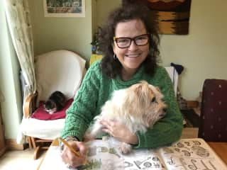 Drawing with Bella in Ireland