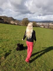 Betsie was taking me for a walk