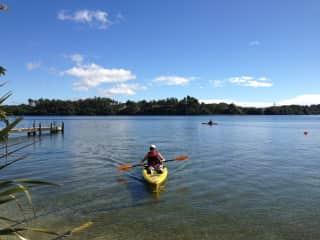 Kayaking near Rotorua