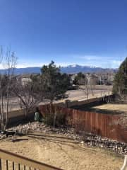 View of Pikes Peak from the back porch