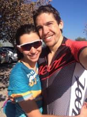 Pame and Ignacio getting ready to cycle!