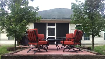 10' x 20' raised patio for lounging in the sun or enjoying a light shower.