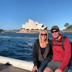 Hubby and I in Sydney.