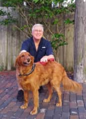 Howard with Bear, the sweetest 90 pound Golden Retriever in St. Pete, FL