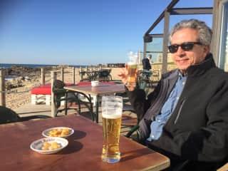 Jay enjoying the sun in Portugal