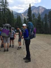 Backpacking with a high school group as assistant leader