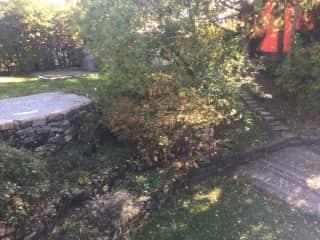 Back yard and terraced garden