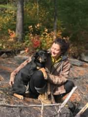 Me, Danika and my pup Makwa!