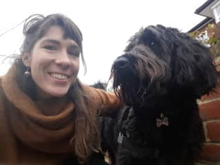 From my first housesit via TrustedHousesitters! My friend, Roku, and I, in beautiful London