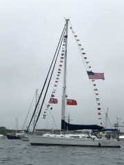 Our home - 'Toodle-oo!' - a 44ft sailboat in which we are travelling the world at our own pace.