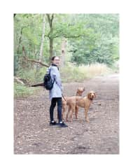 My sister Anna-Katharina with Kobi and Milo in the forests of Wimbledon, London