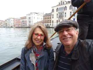 Joëlle and Gilbert in Venise (Italy) for our 40th wedding anniversary !!