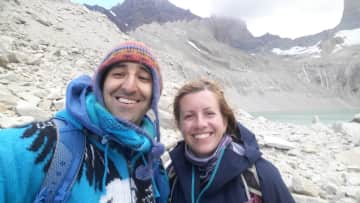 Us at the three towers peak in Patagonia, Chile!