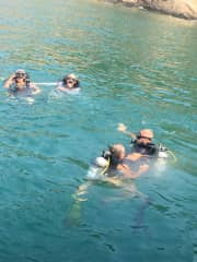We are teaching scuba diving in Thailand