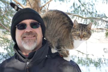 Kevin and Kitty out for some fresh winter air.