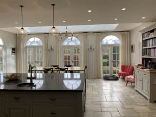 View of dining area in kitchen